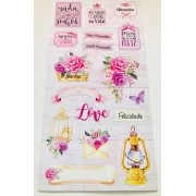 Die Cuts Cartela Rosas