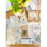 Kit bullet Journal vintage escritas