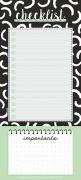 Notepad Cheklist Preto-verde Magnético