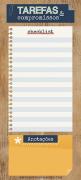 Notepad Lista Madeira Magnético