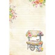 Papel de carta carrinho de flores