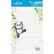 Papel de carta panda 5 unidades