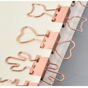 Prendedor de papel Rose Gold