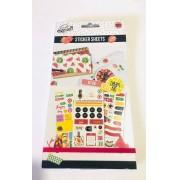 Sticker Book Color Frutas 1000 un