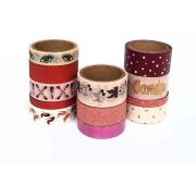Washi Tape Girly Batom/ Cílios 12 un,