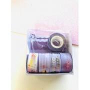 Washi tape Lilás mini 5 un