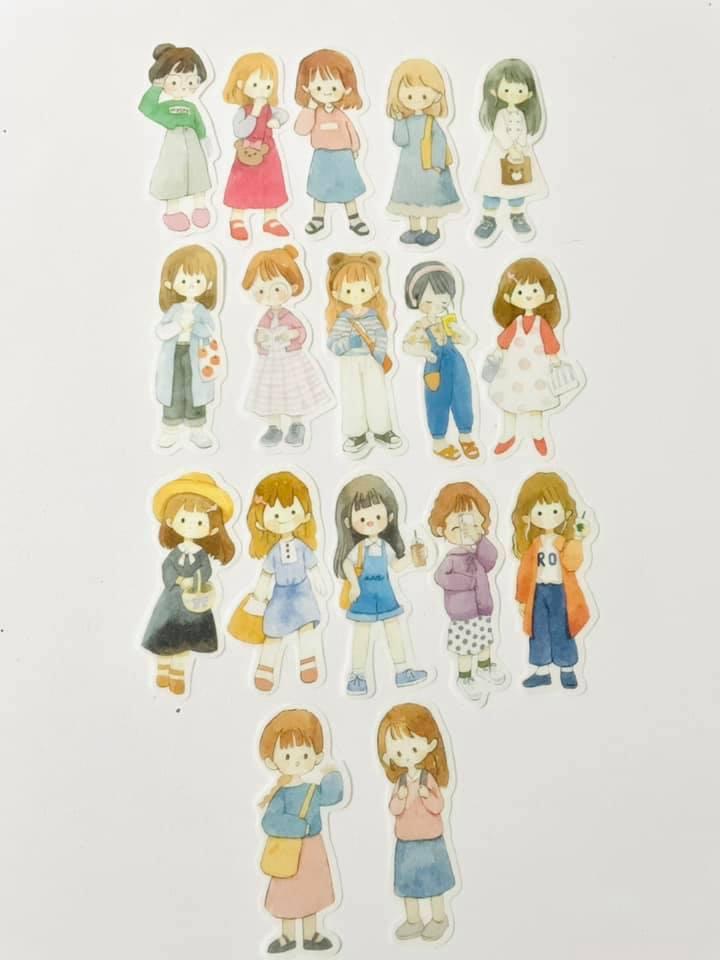 Adesivo 50 meninas