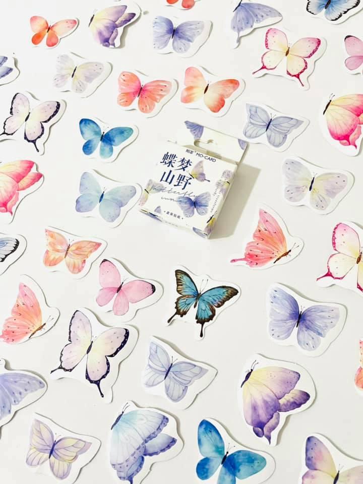 Adesivo caixinha borboletas
