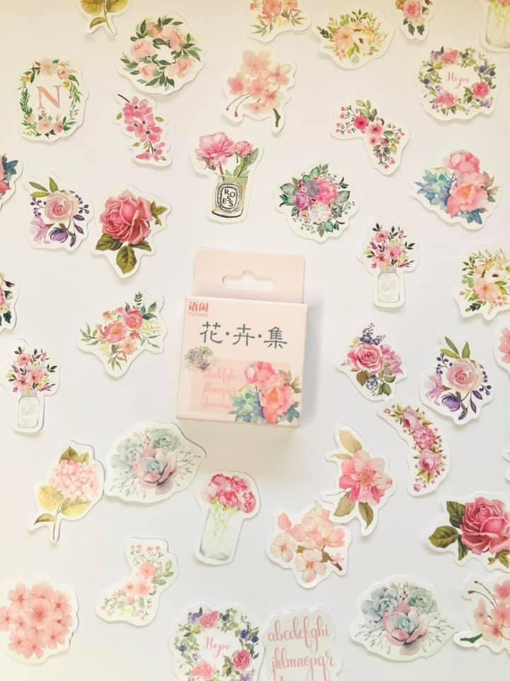 Adesivo Caixinha Flor luxo 50 un