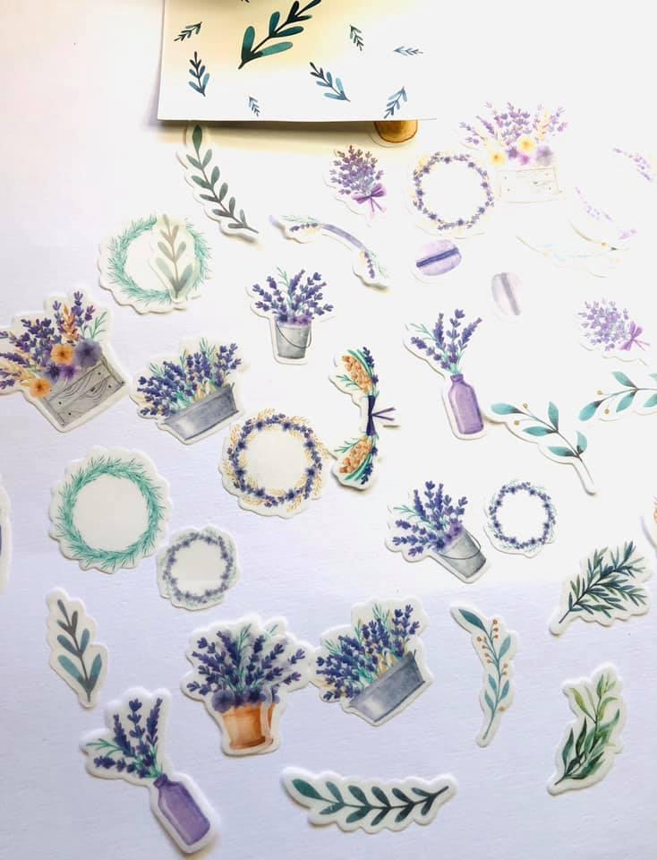Adesivo Floral Lilás