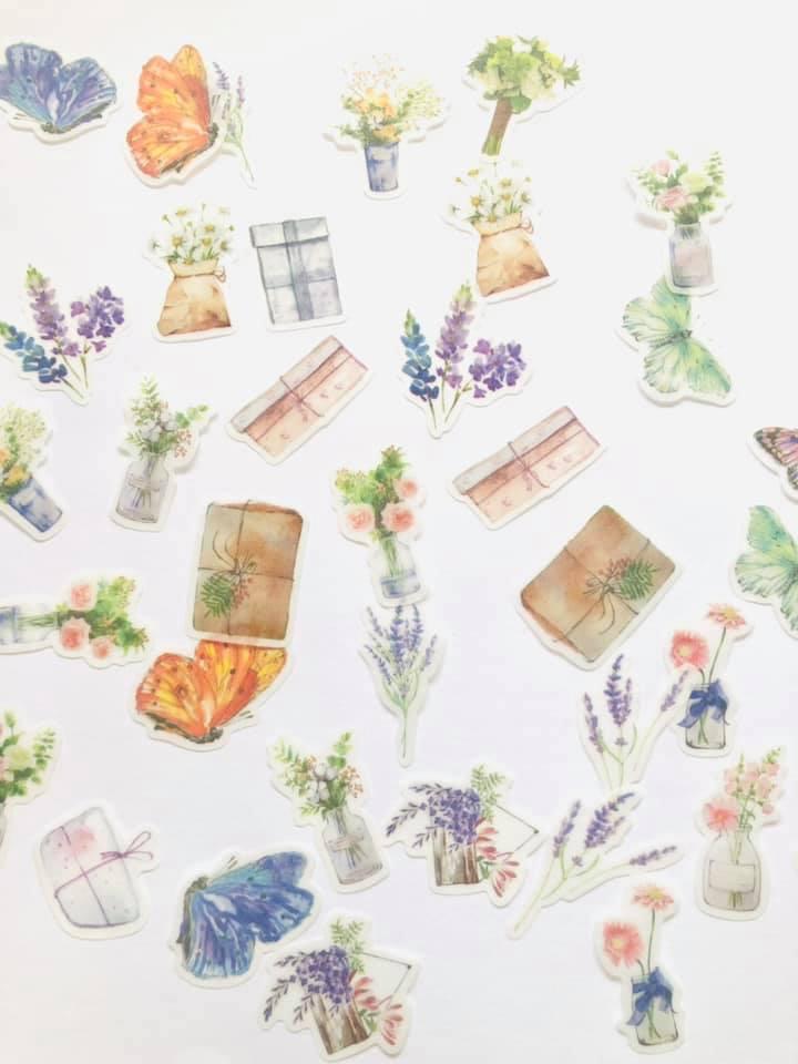 Adesivo Flores e vasinhos