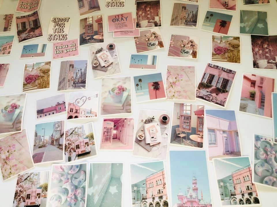 Adesivo fotografia rosa 60 un