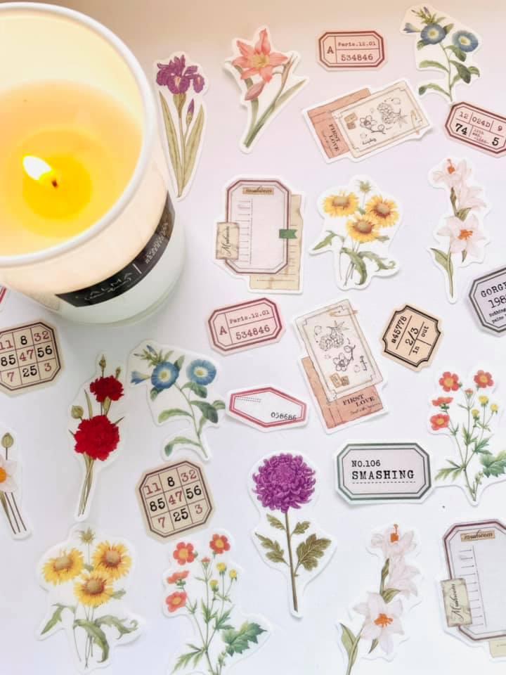 Adesivo Notes Flores