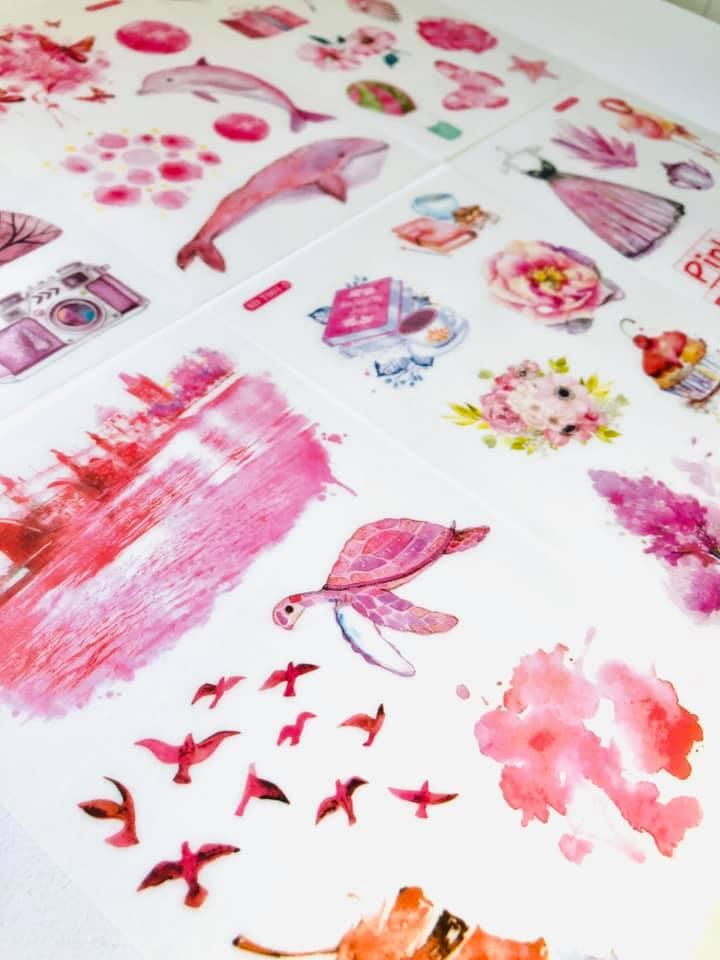 Adesivo Pink fashion 6 un