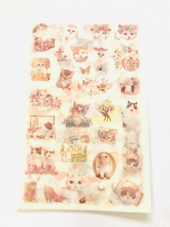 Adesivos Gatinhos Cute 6 un