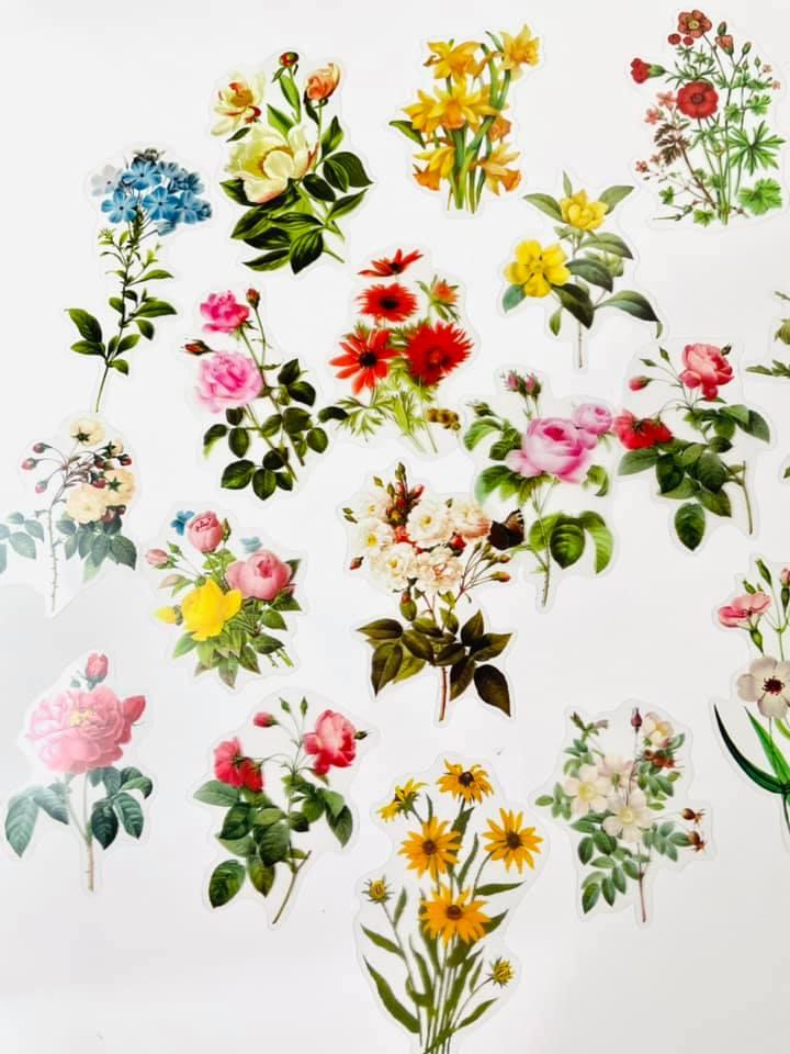 Adesivos transparentes Flores