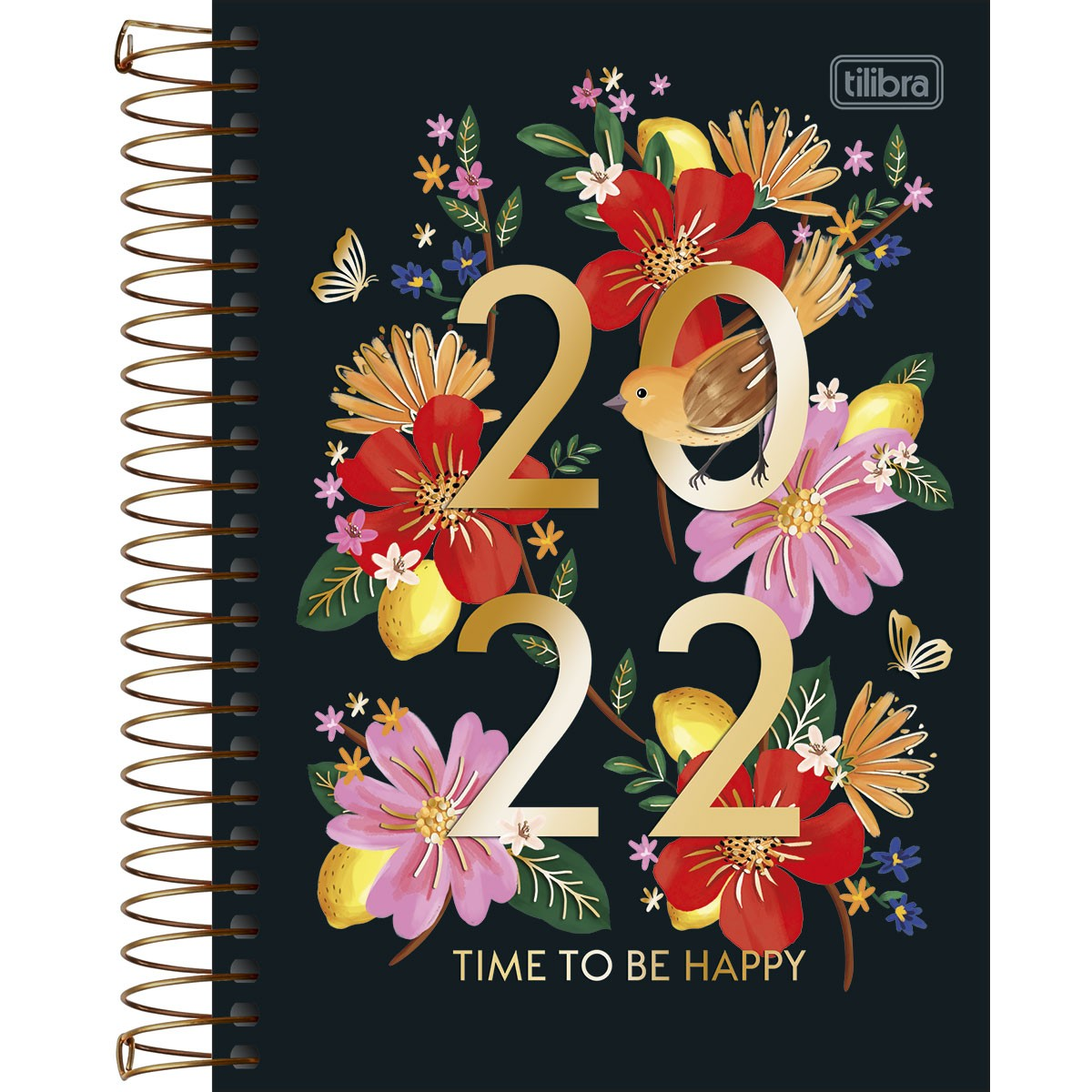 Agenda Espiral Diária 14 x 20 cm Le Vanille 2022
