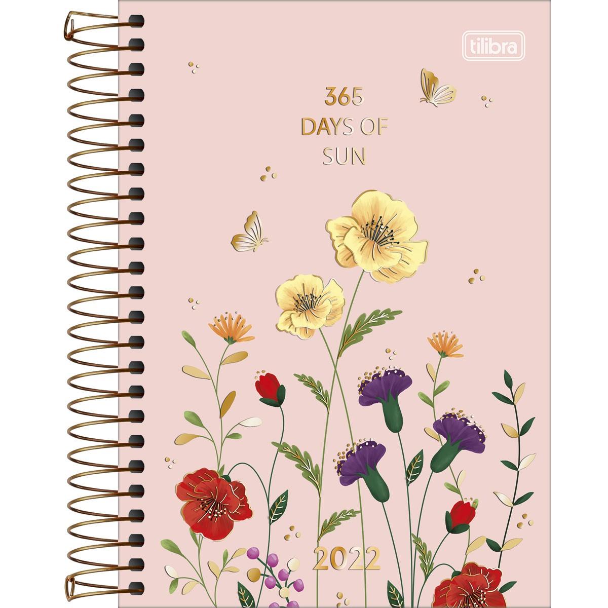 Agenda Espiral Diária 14 x 20 cm Le Vanille Days 2022