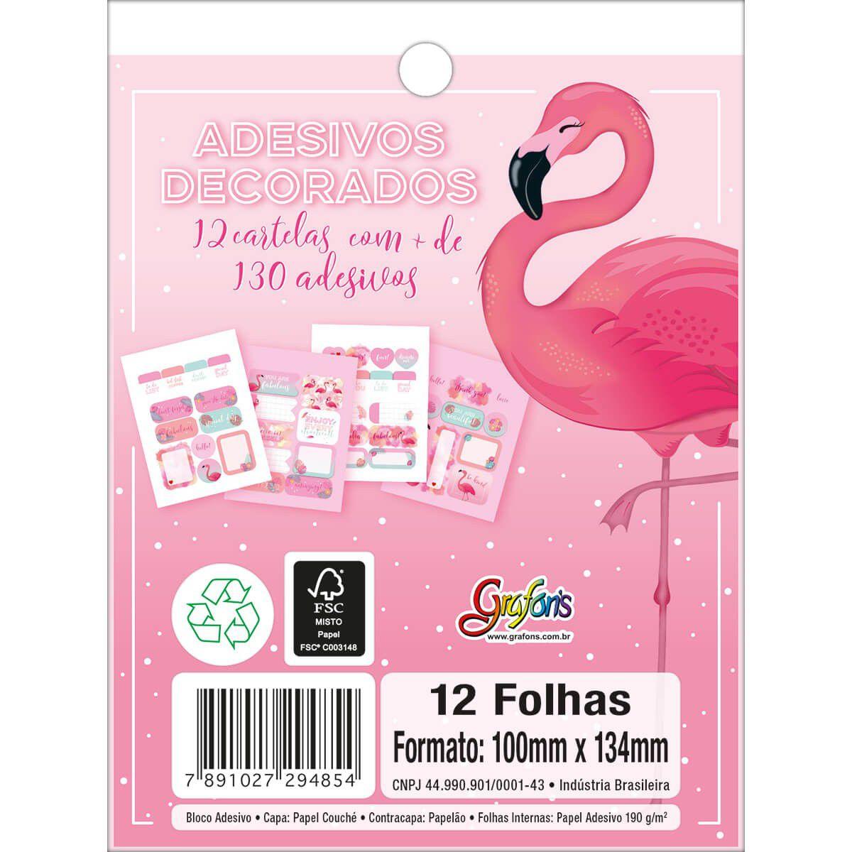 Bloco de adesivos Flamingo