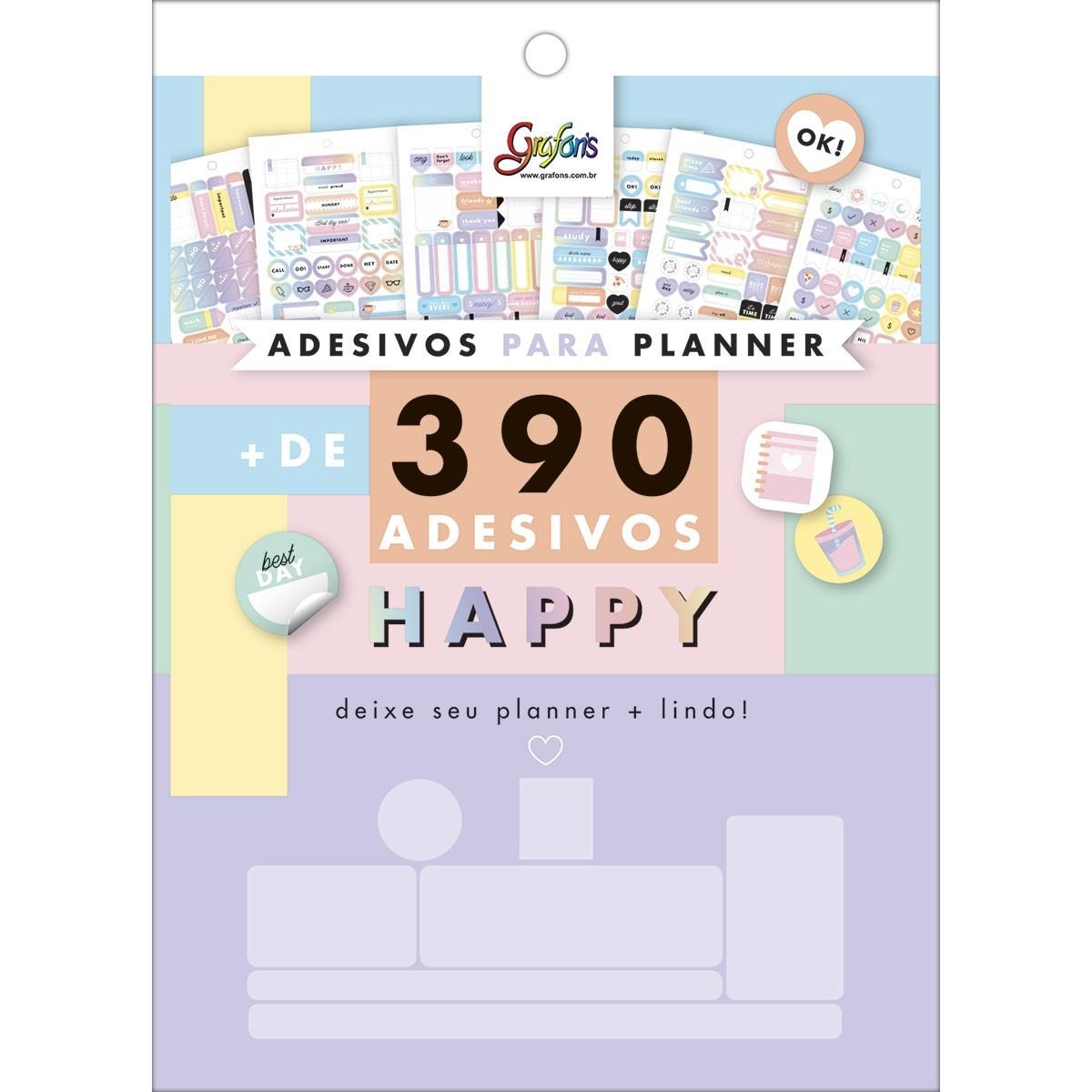 Bloco de Adesivos para Planners Happy