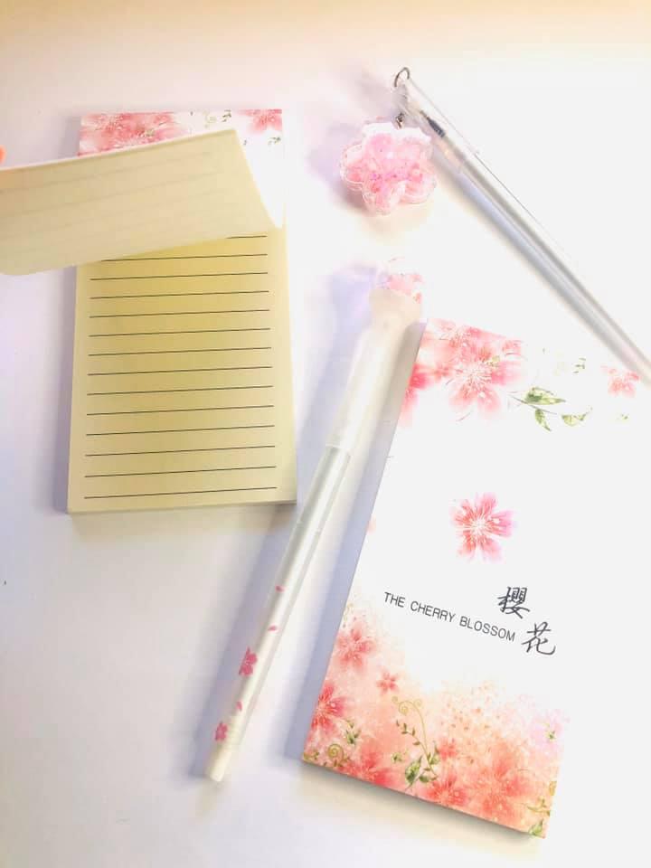 Bloco de anotações Sakura
