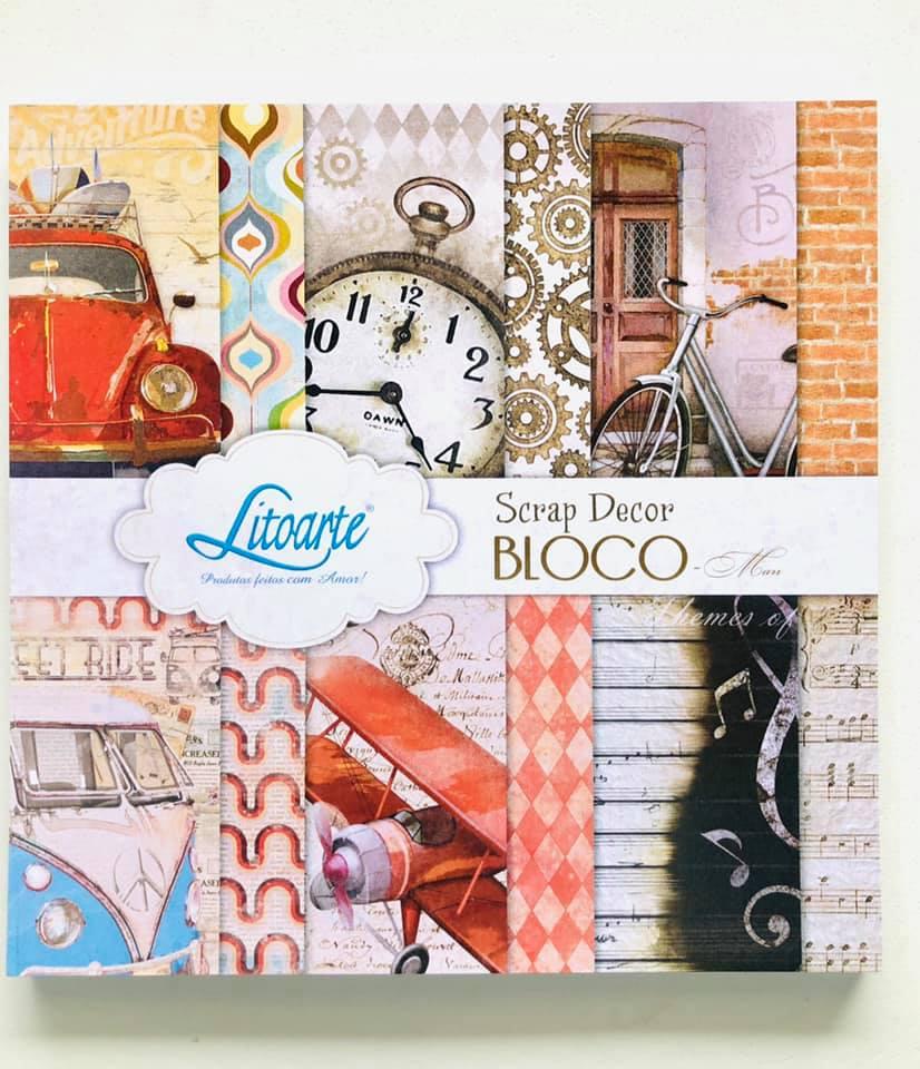 Bloco Scrap Vintage 15x15