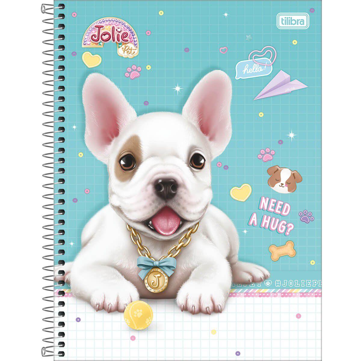 Caderno Capa Dura Jolie Pet 1 Matéria