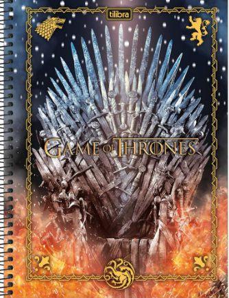 Caderno Universitário 1 Matéria Game of Thrones 80 Folhas