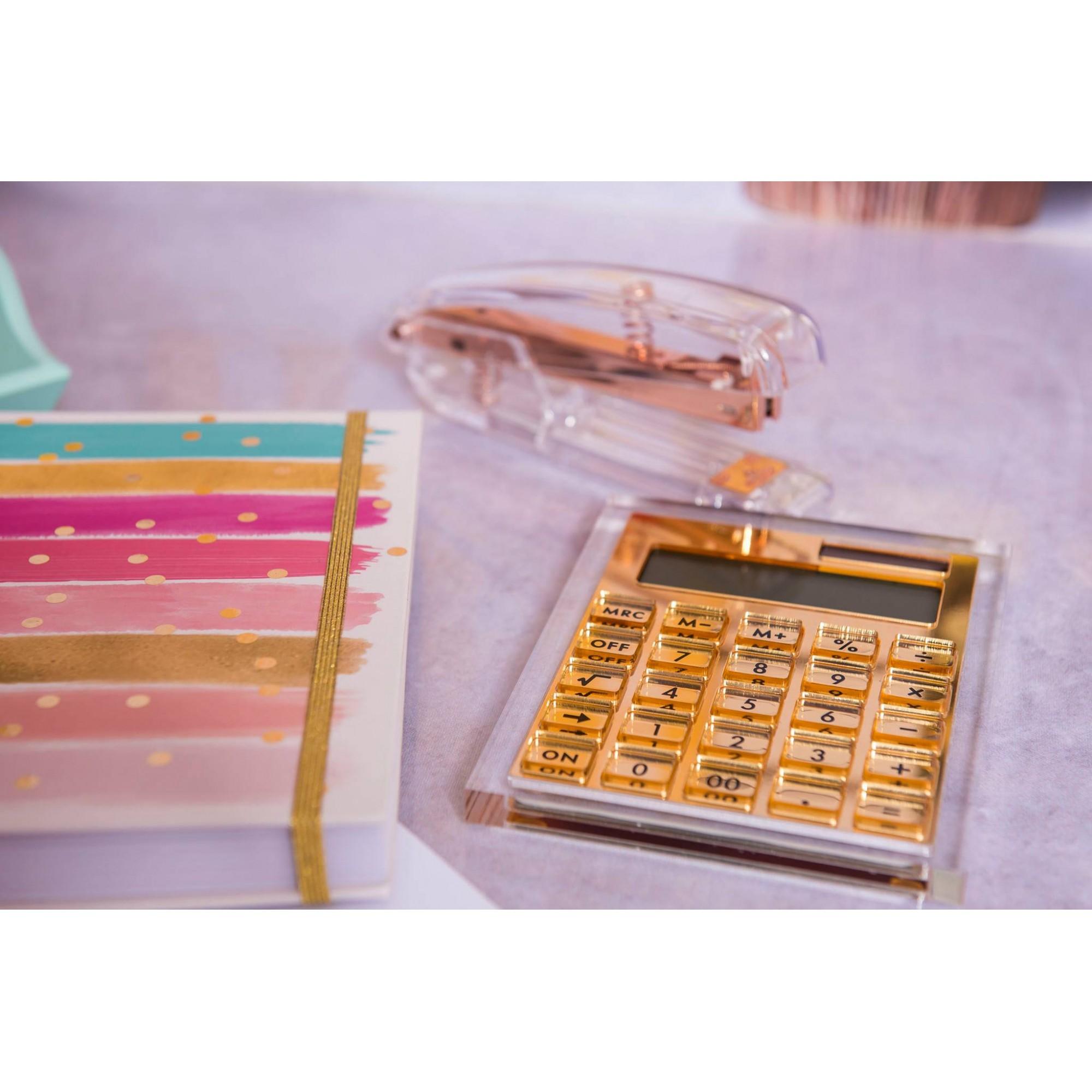 Calculadora Dourada de Acrílico