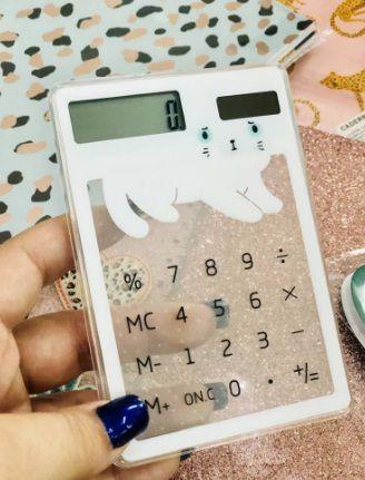 Calculadora Gatinho Transparente