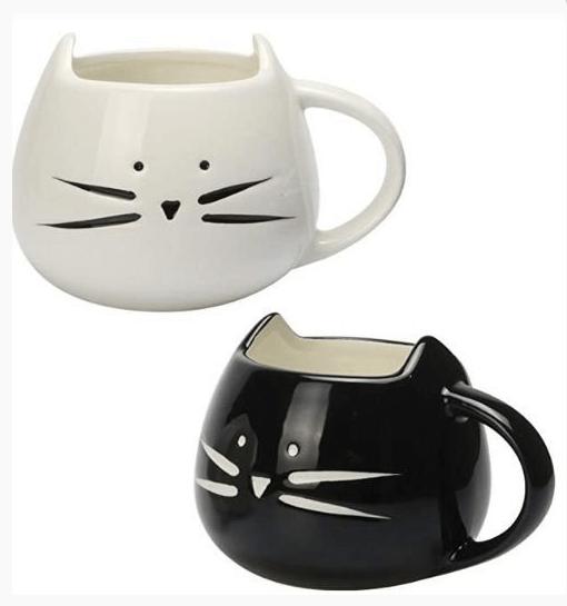 Caneca de gatinho branco