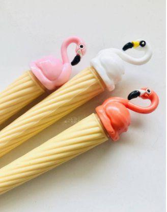 Caneta Flamingo Sorvete