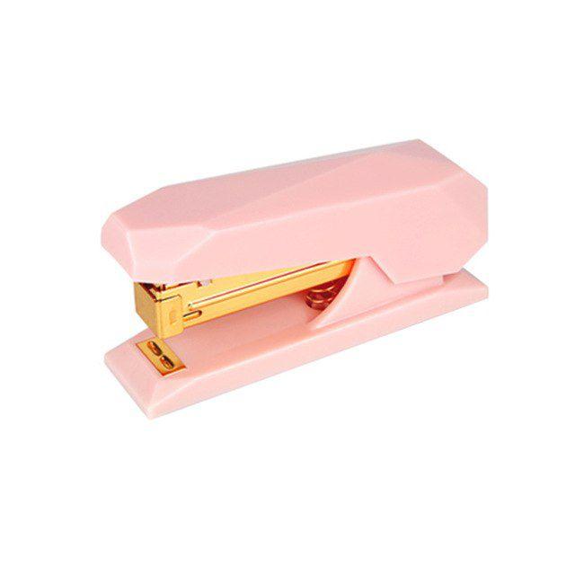 Grampeador Rosa com Dourado