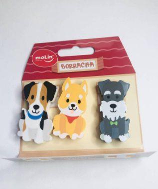 Kit borracha Cachorro 3 un