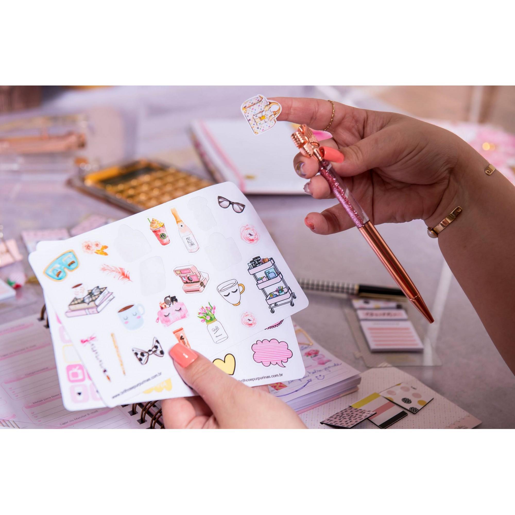Kit de adesivos para Planner Brilhos
