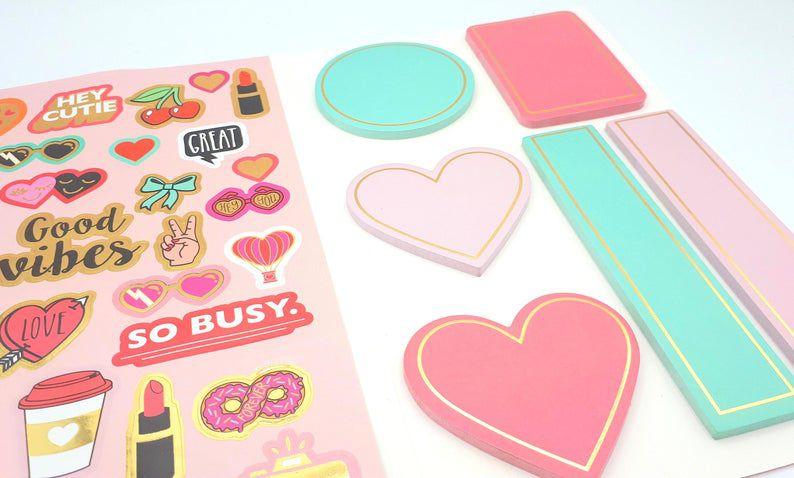 Sticky Notes Foil e Adesivos Love