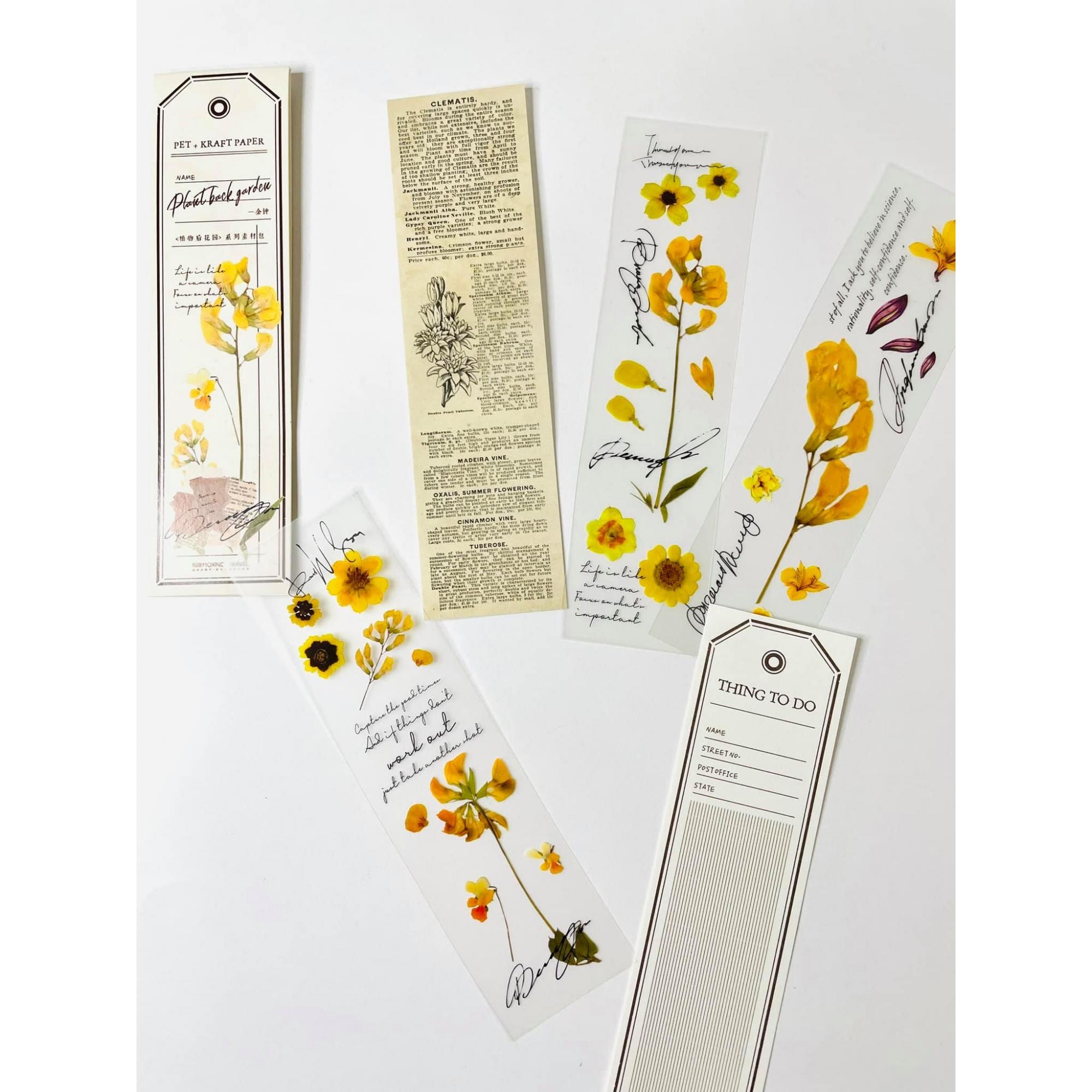 Marca Páginas Vintage Amarelo