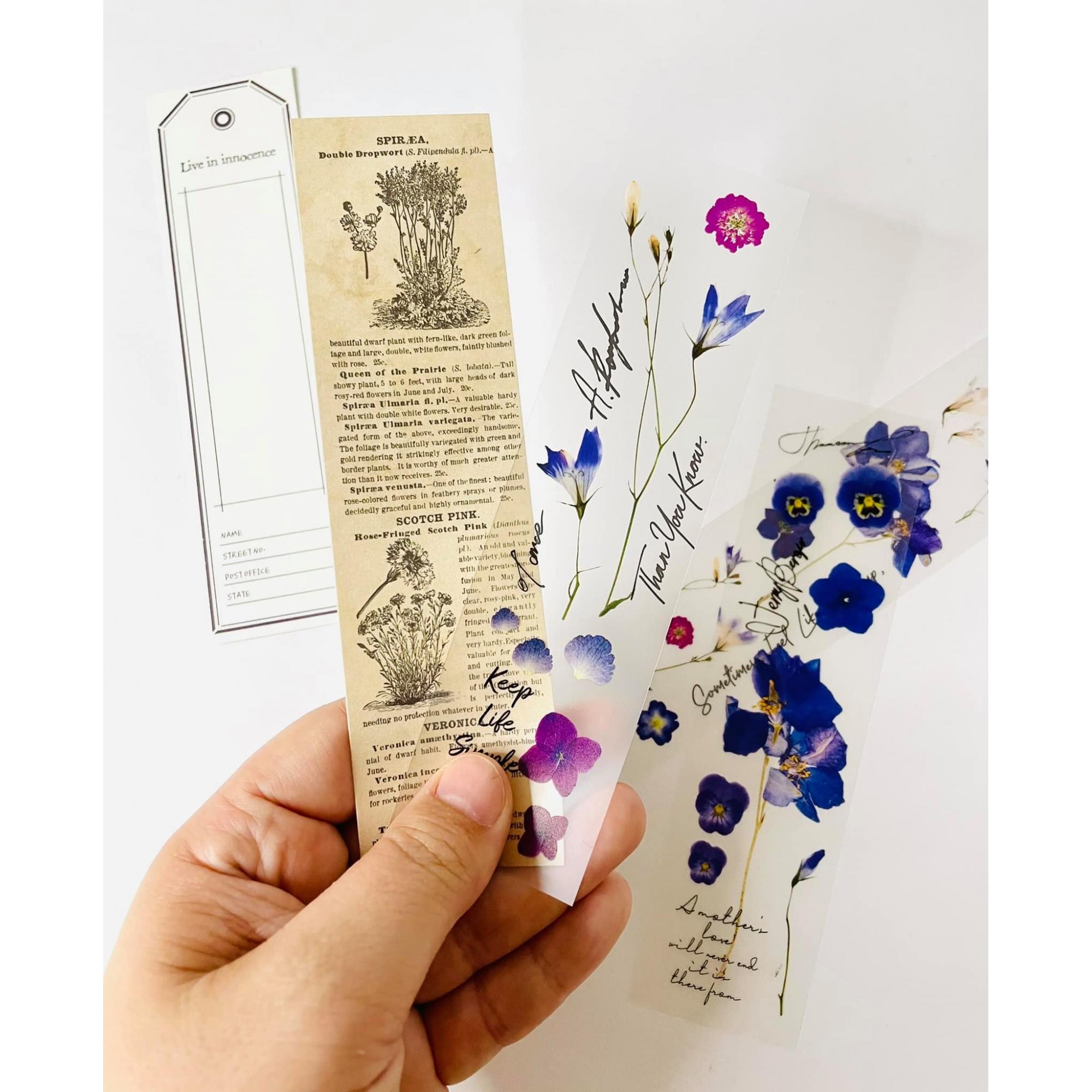 Marca Páginas Vintage Lilás