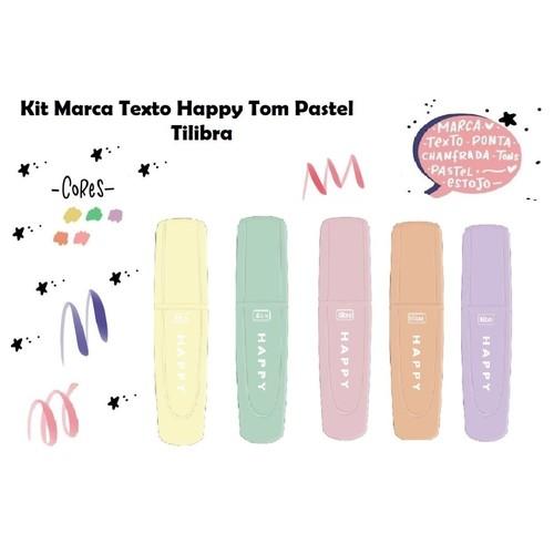Marca Texto Tilibra Happy Mini Tom Pastel
