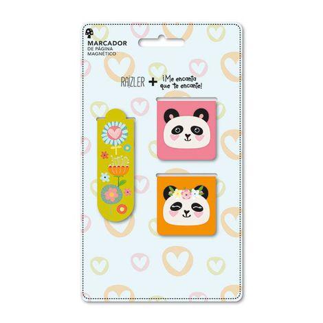 Marcador de Página Magnético Panda