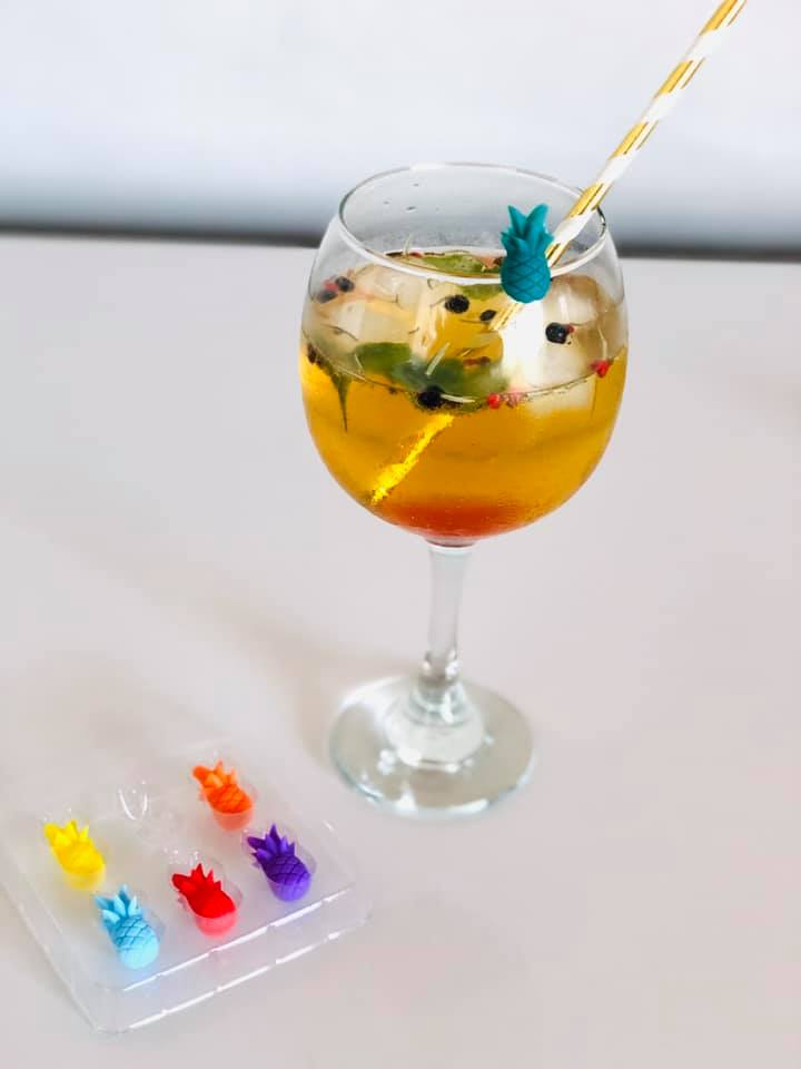 Marcador de taças e copos Abacaxi