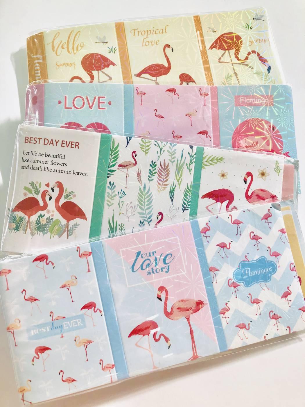 Memo Pad Livrinho Flamingo