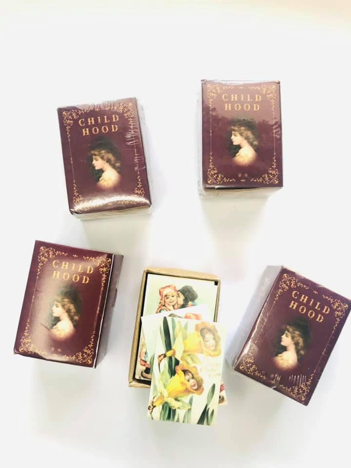 Mini Cards Vintage 100 un