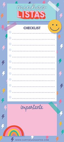 Notepad Lista Dream Magnético