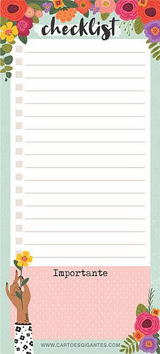Notepad Lista Florir Magnético