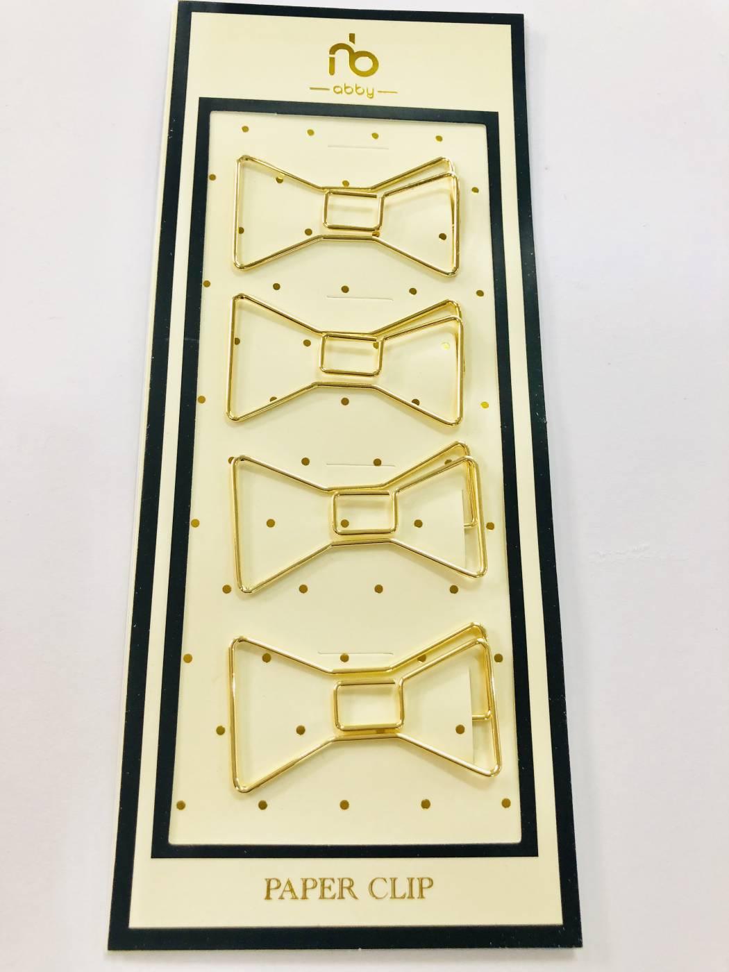 Paper Clips Lacinho Dourado