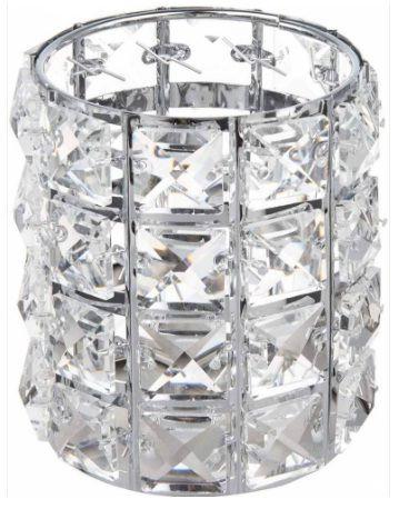Porta Canetas Cristal Prata