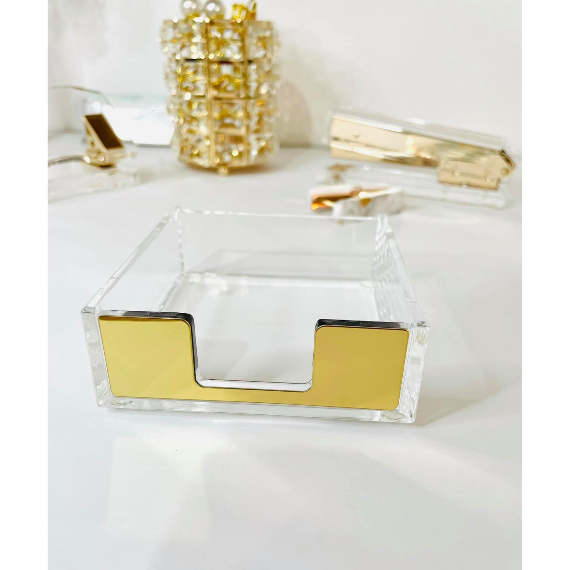 Porta Papel Acrílico Dourado