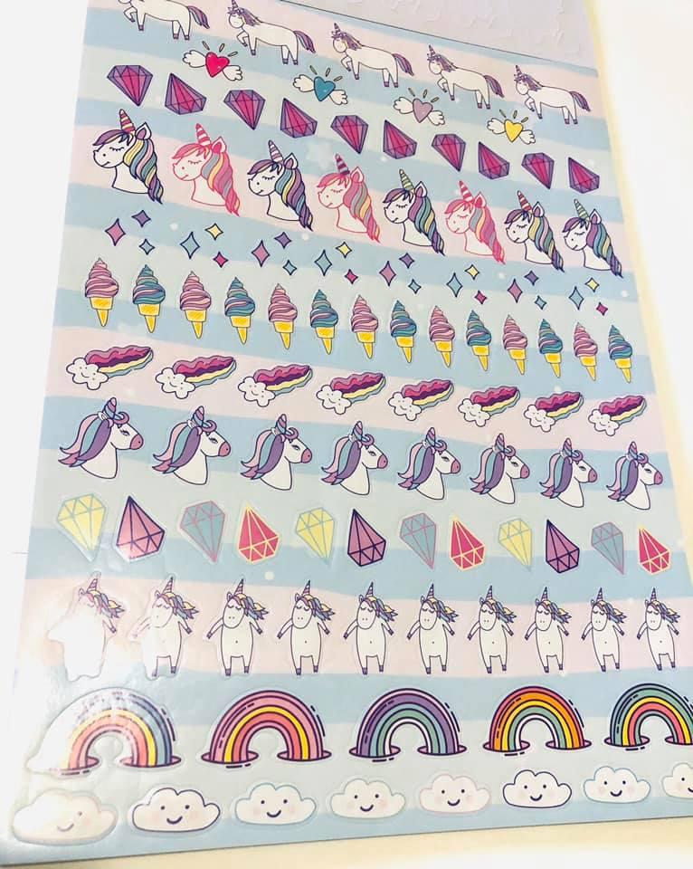 Sticker Book Unicórnio A4 1000 un