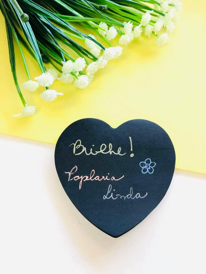 Sticky Notes coração preto